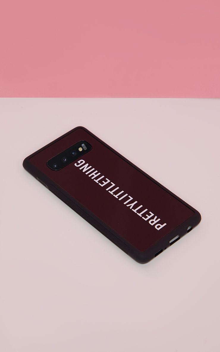 PRETTYLITTLETHING Black Logo Samsung S10 Plus Phone Case