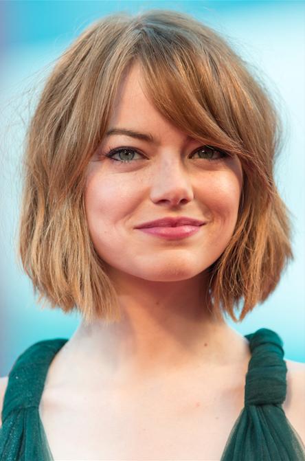 Emma Stone Chopped Bob Hair Pinterest Haar Ideen Bob Frisur