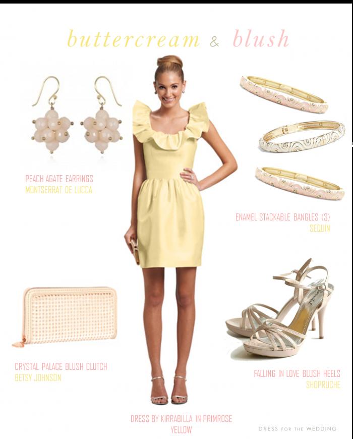 Yellow dress accessories