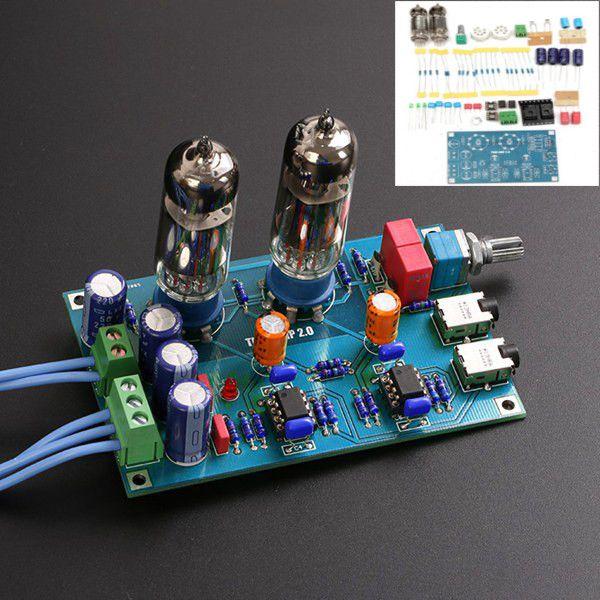 Diy Class A 6j5 Hifi Headphone Amplifier Vacuum Tube Preamplifier Kit Amplificador Eletronica Diy