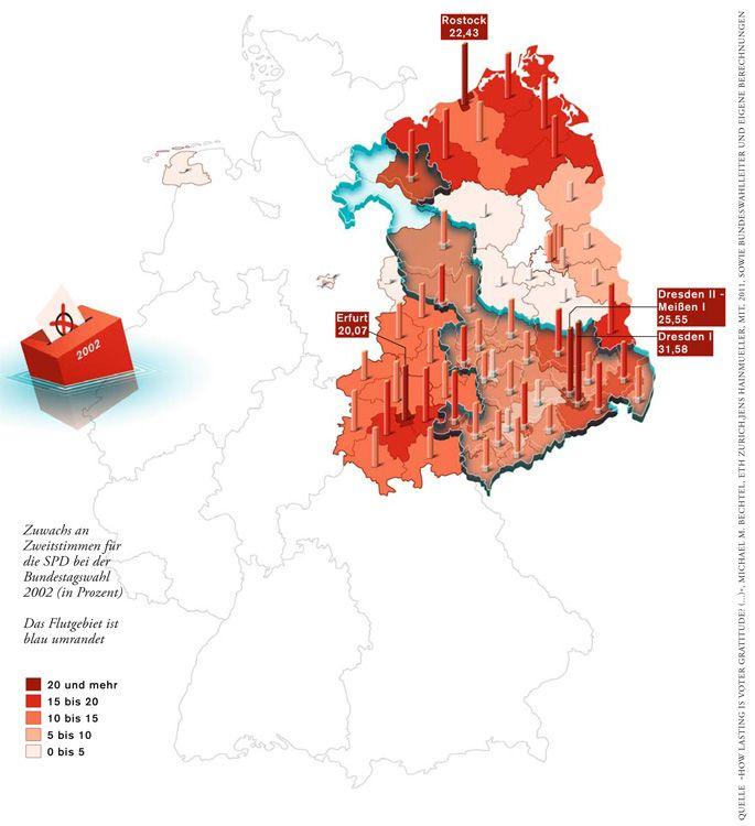 Deutschlandkarte Die Flut Und Die Wahler Gewgrafia