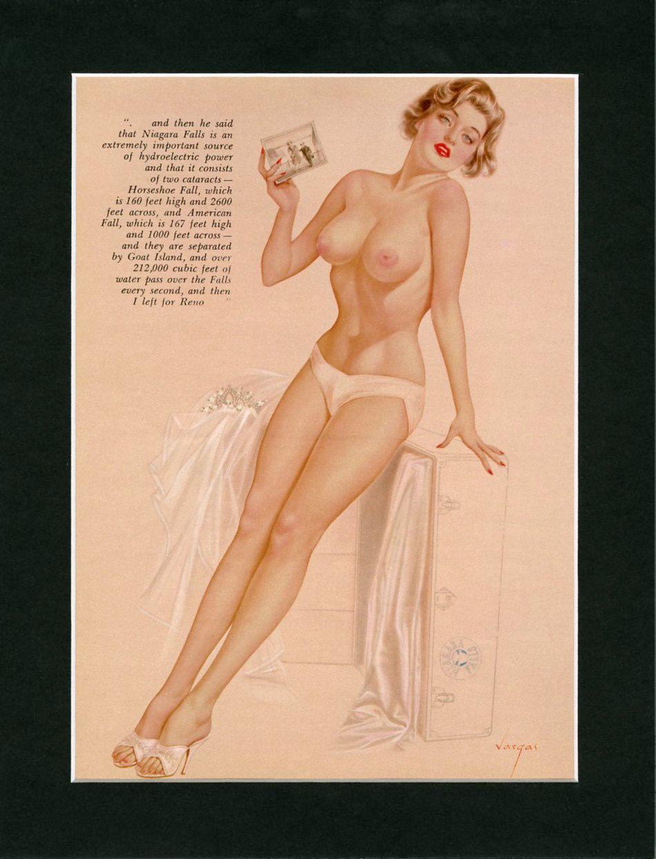 vintage old mature naked nude Vargas Girl Pin-Up June 1962 ~ Vintage Playboy Mature Print ~ Nude Pinup  Girl ~ Optional 11 x 14 Matting, Laminating ~ Man Cave Wall Art
