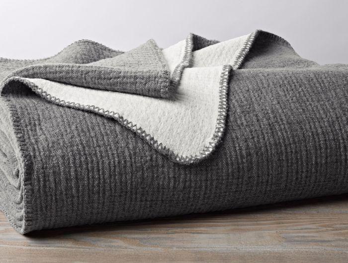 Cozy Cotton Blanket - Throw / Charcoal