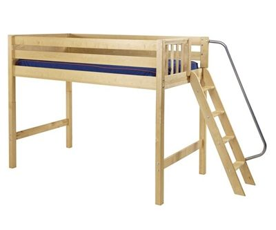 Maxtrix PACK Mid Loft Bed Twin Size Natural