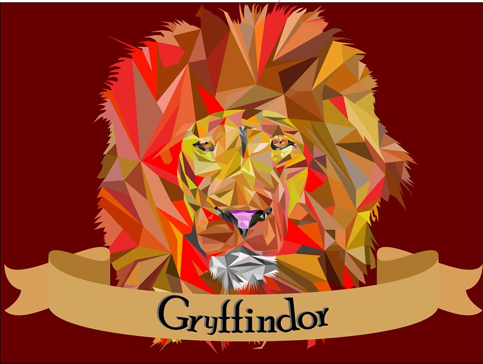 Leão da Grifinória {#Illustrator #Draw #Vector #Lion #Leão #Leo #Gryffindor #Grifinória #HarryPotter #Polygons #Geometric #CateiAFaixaDoFreepixMesmo}
