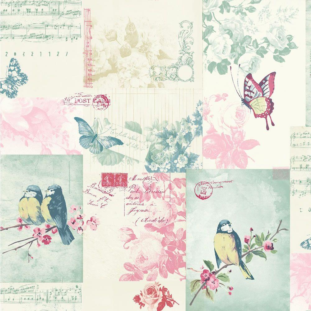 Songbird Multi Wallpaper Design Illustration Pinterest
