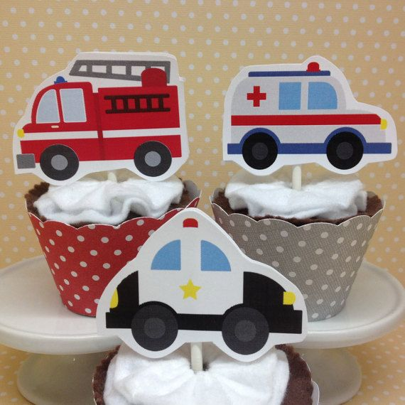 Emergency Vehicles Ambulances Police Cars Fire Trucks Party