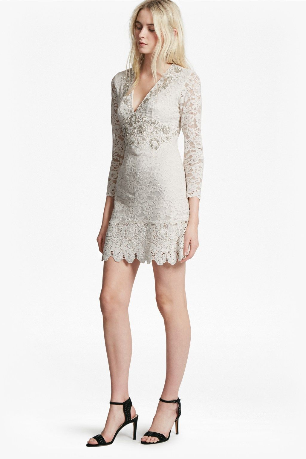 Emmie Lace Embellished Dress   SALE   French Connection Canada