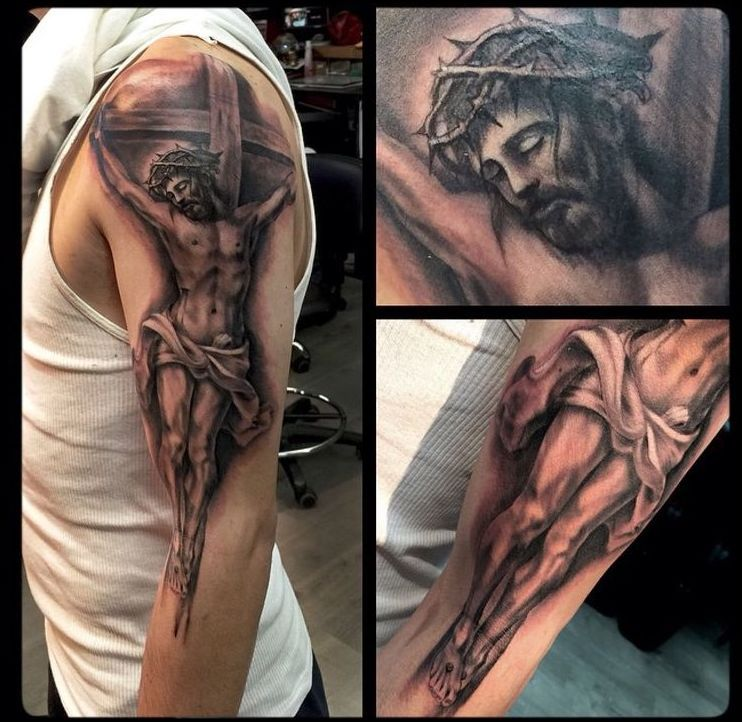 The Meaning Behind Jesus Carrying The Cross TattooTattoo Themes Idea ...