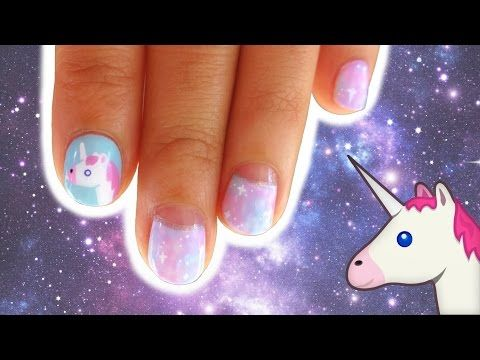 Diy galaxy unicorn gel nail art youtube unhas decoradas diy galaxy unicorn gel nail art youtube prinsesfo Images