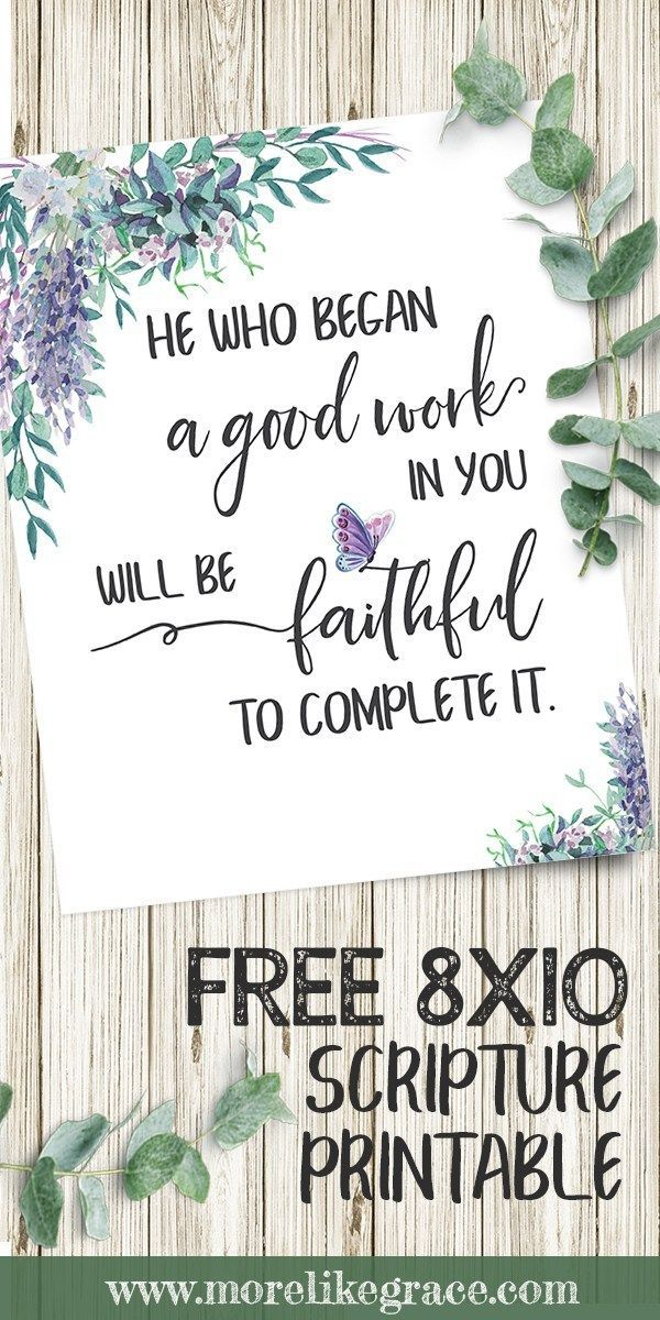 Free 8×10 Scripture Print: He Who Began a Good Work in You