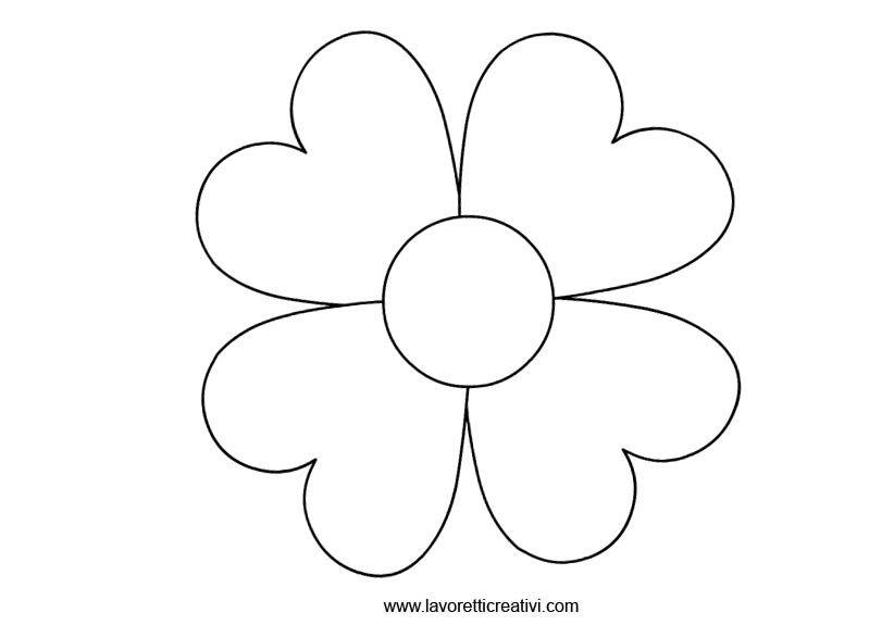Sagome fiori 3 skd fiori disegnati da colorare fiori for Fiori grandi da colorare