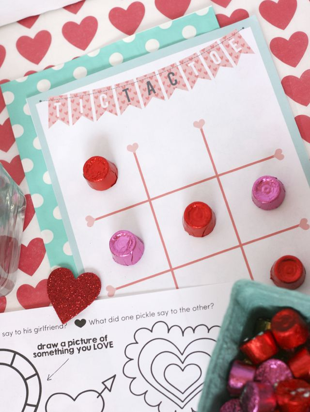 Tic tac toe and other valentine printables for a dinner for Valentine dinner recipes kids