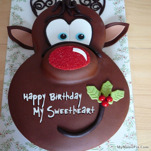 The Name My Sweetheart Is Generated On Birthday Cake For Kids With