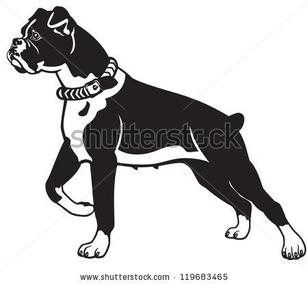 Black And White Cartoon Dogs Silhouette Google Search Boxer Dogs Boxer Dog Boxer Tattoo