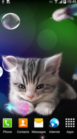 New Android Update Sleepy Kitten Live Wallpaper V1 0 2 Free Mobile Applications Softwares Widgets Sleepy Kitten Kitten Wallpaper Kitten