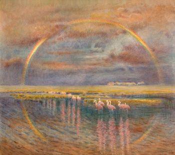 Eduardo Sívori (1847 - 1918) Arco iris, sin fecha óleo sobre tela- 90 x 99 cm Firmado en el ángulo inferior izquierdo. Ingresó en 1929. Adquisición de la CMBA