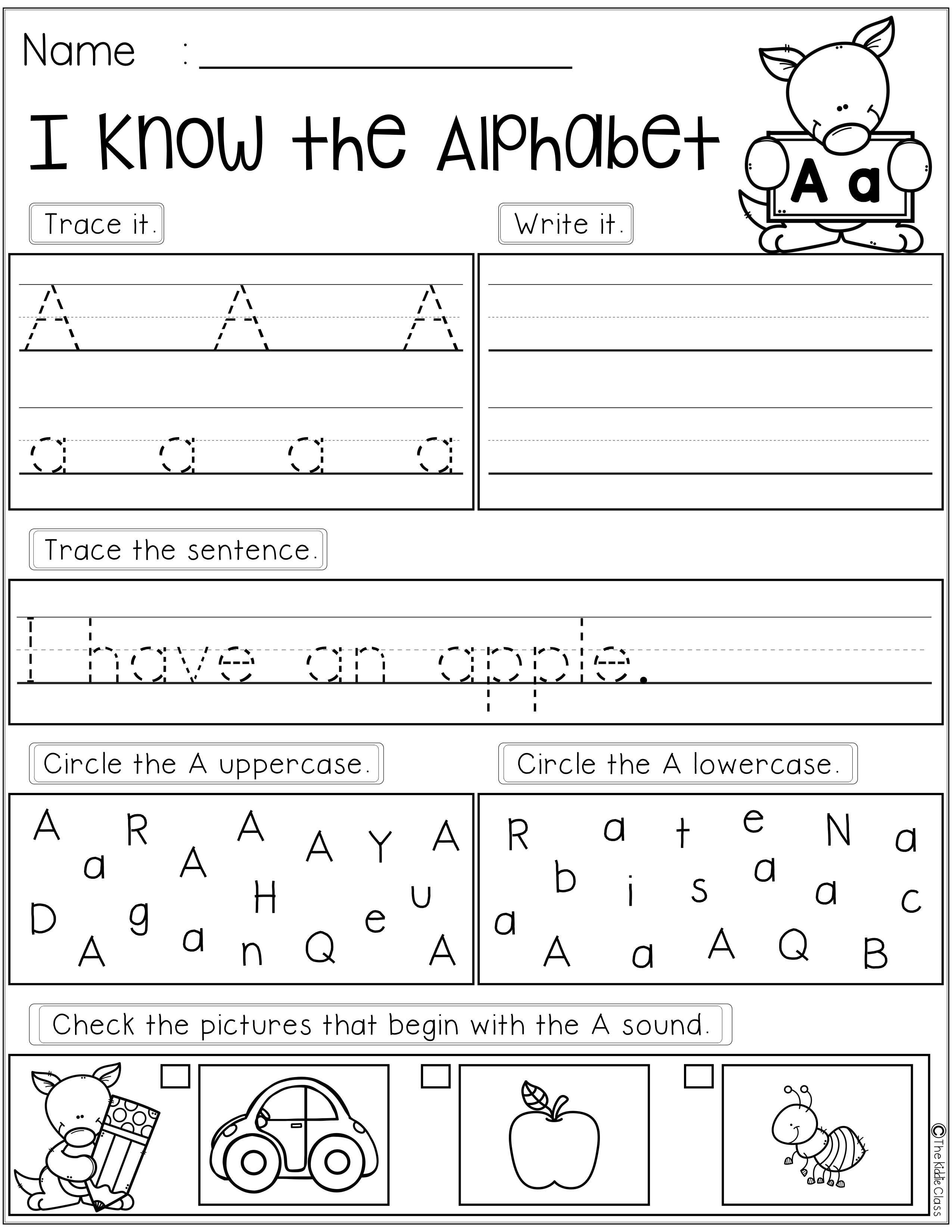 Alphabet Practice Printables Has 26 Pages Of Alphabet Letters Practice In This Packet Students