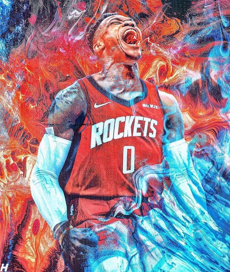 Pin By Doe Columbus On Basketball Westbrook Wallpapers Nba Wallpapers Nba Artwork