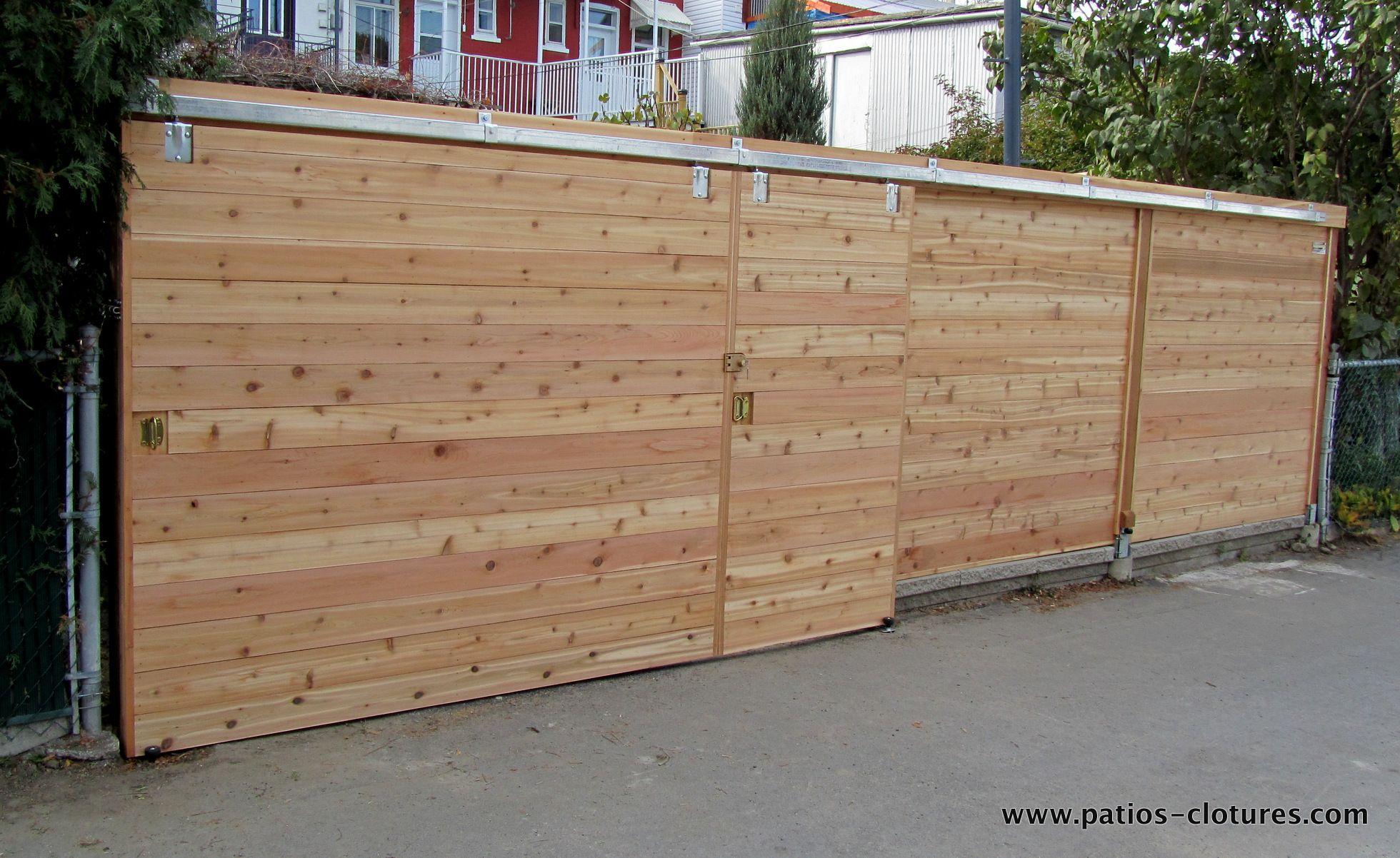Emejing Porte De Jardin Coulissante Photos Amazing House Design - Porte de jardin en bois