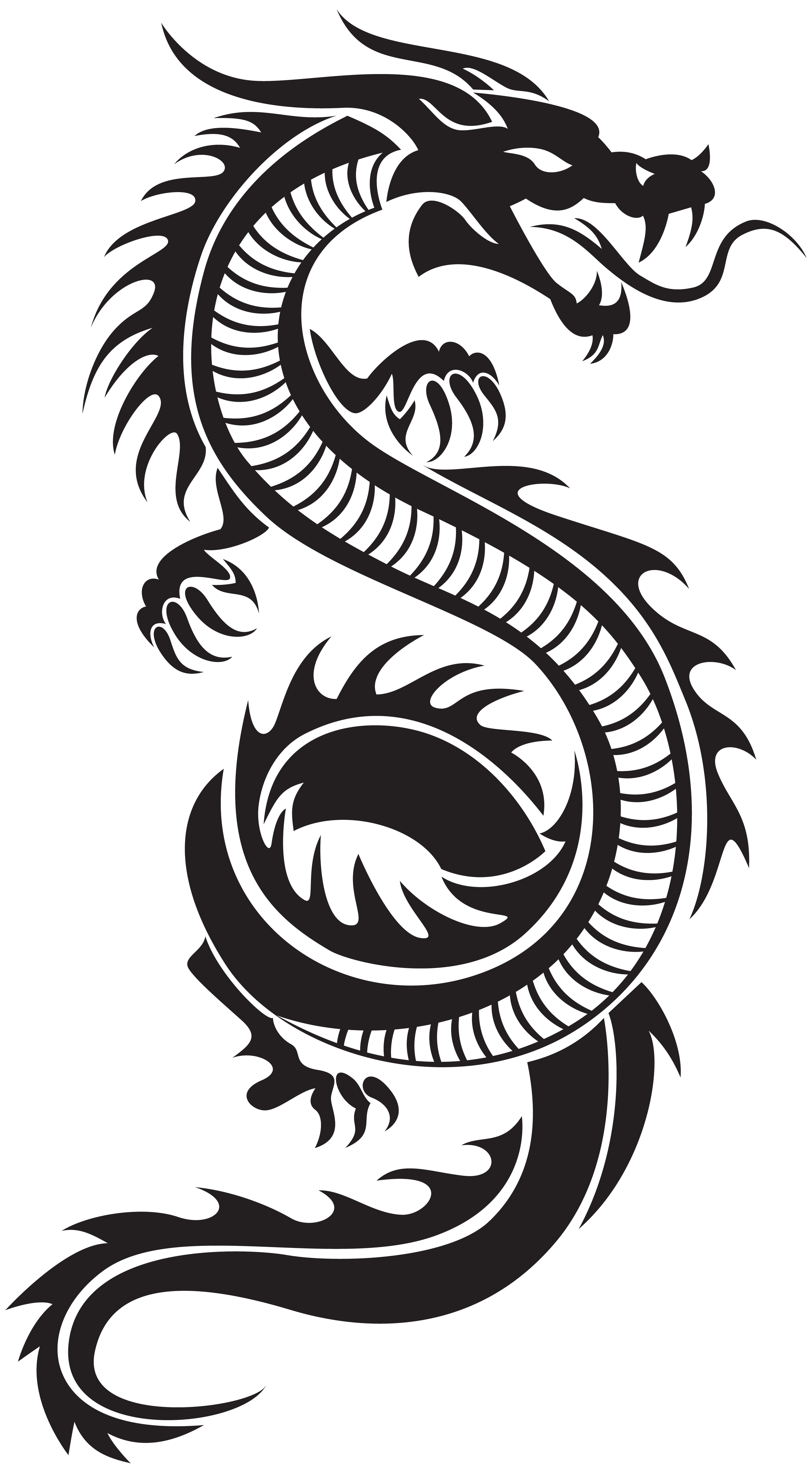 Chinese Dragon Silhouette Png Clip Art Tatuajes De Dragon Tribal Tatuajes Dragones Tatuaje De Dragon