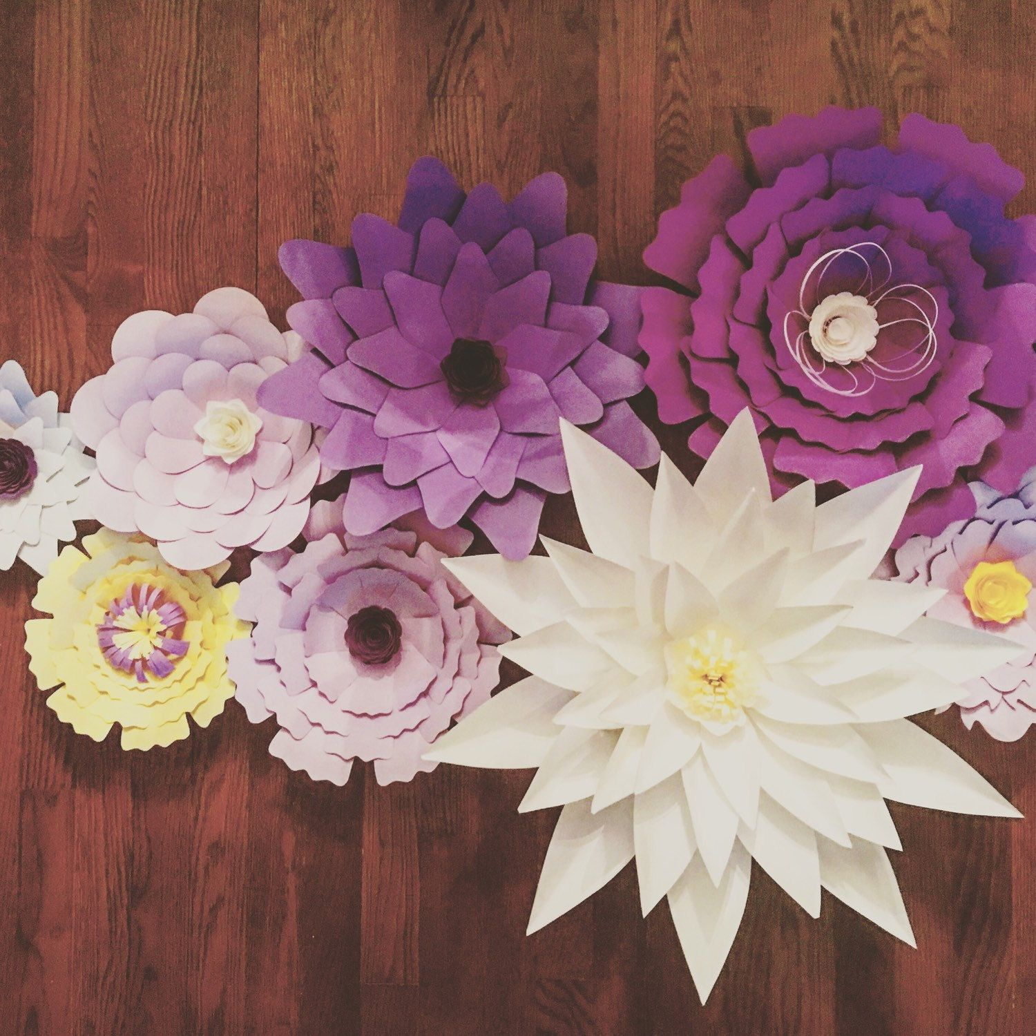Giant Large Paper Flowers For Back Drop Customizable For Wedding