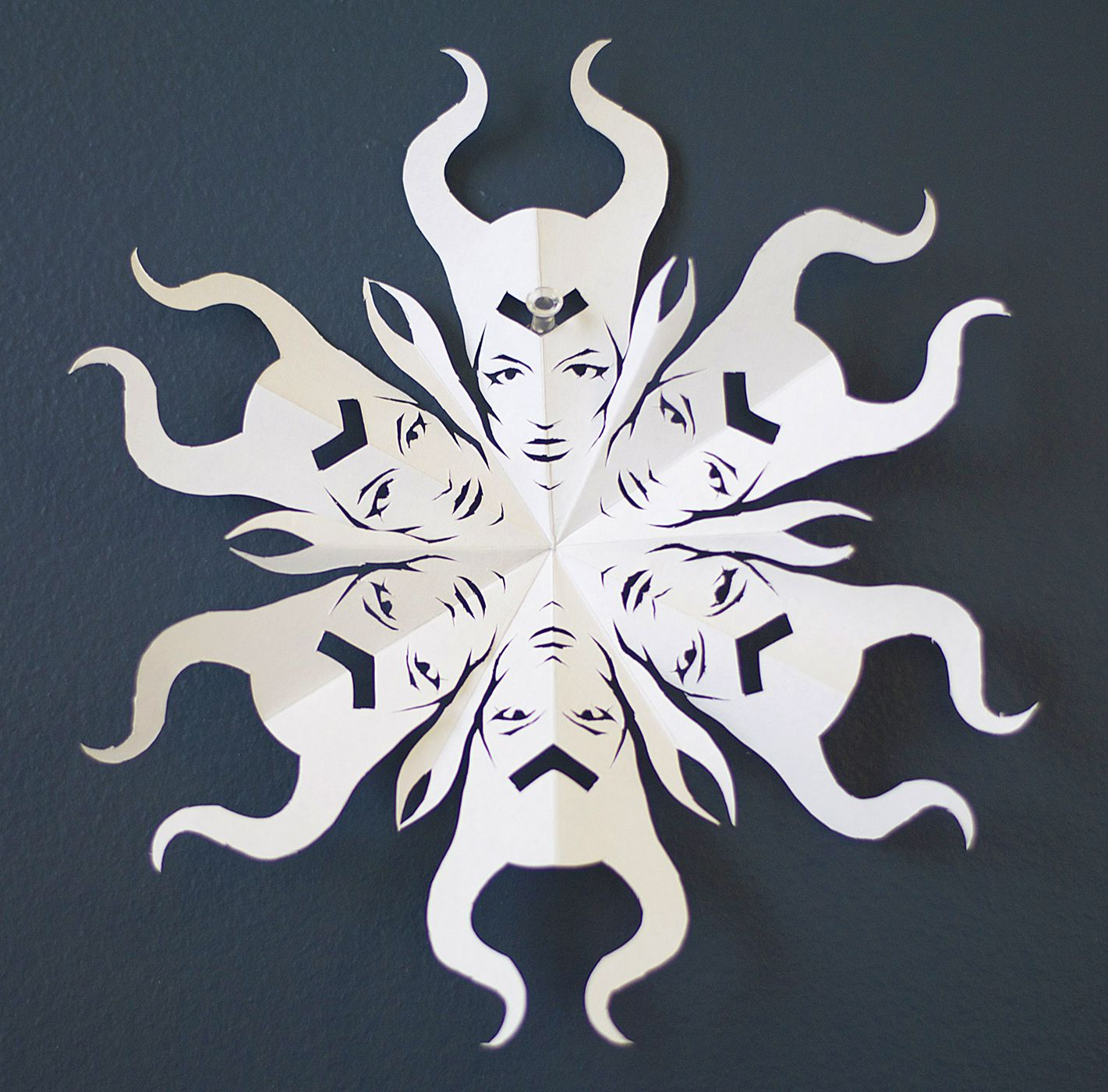 Maleficent Paper Snowflake Template