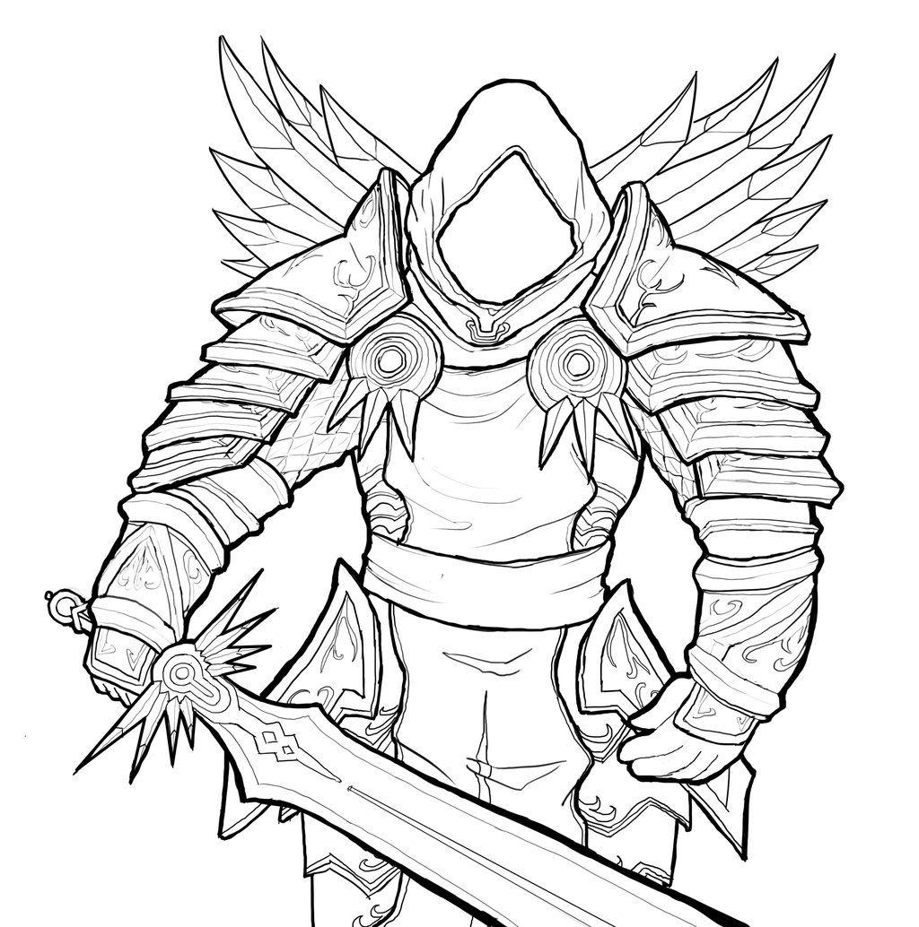 Diablo 3 Pencil Drawings Sketch Coloring Page