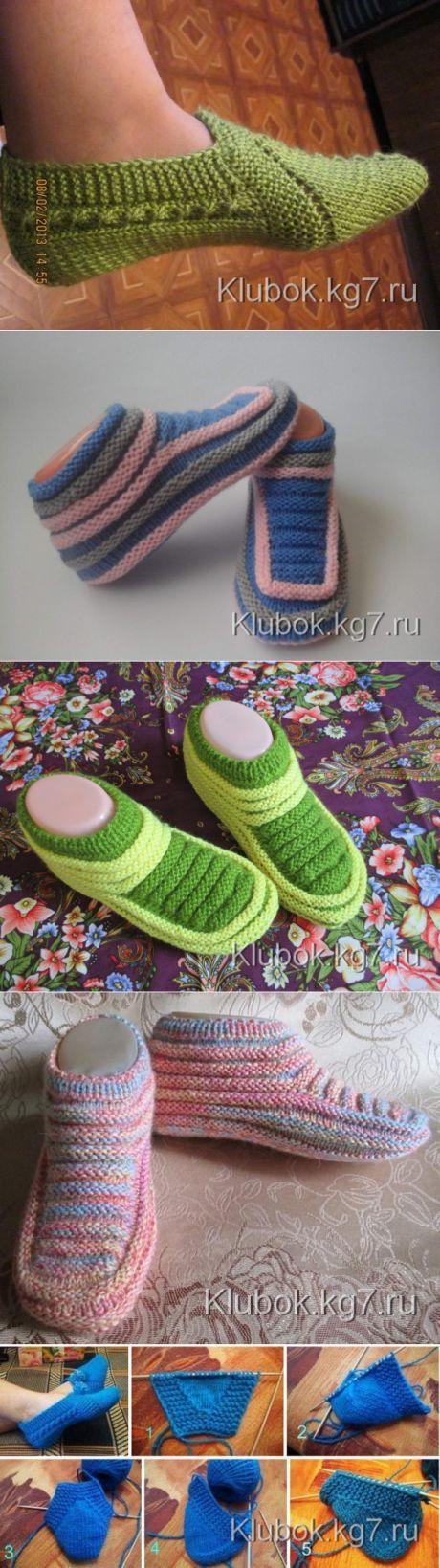 вязание   Stricken, Schuhe und Handarbeiten