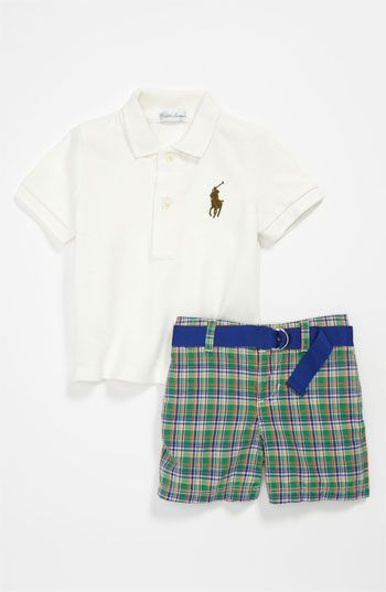 Ralph Lauren Rugby Polo & Shorts (Infant) available at #Nordstrom