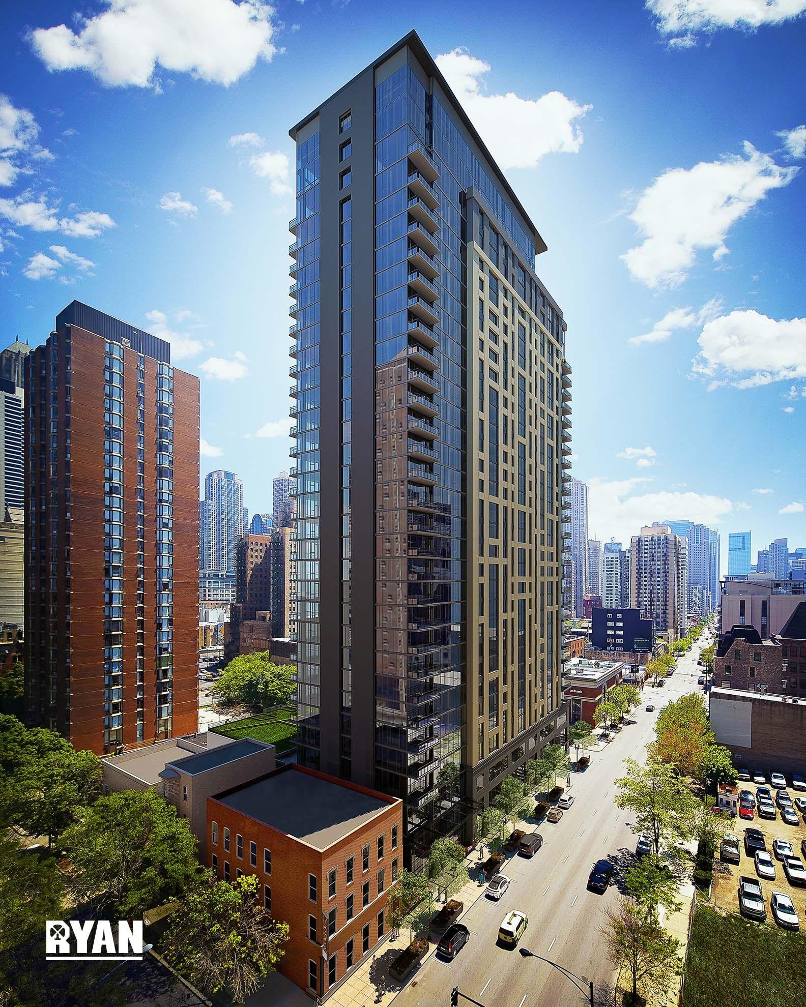 New Apartment Buildings Chicago: Aurélien Apartments, 833 N Clark St, River North