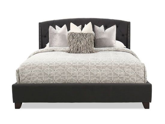 Best Ashley Kasidon Dark Gray Tufted King Bed Tufted Bed Bed 400 x 300