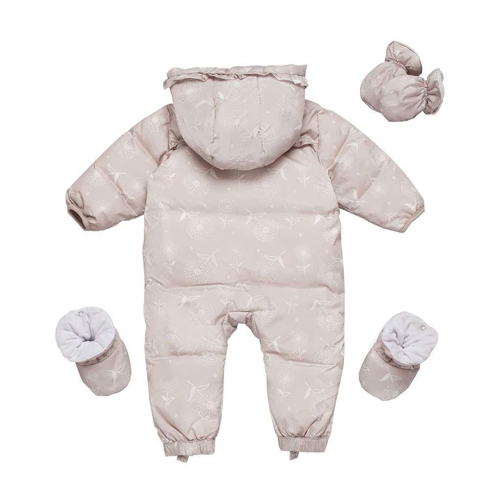 3d5804023 Fairy Baby 3 Pieces Baby Girls Snowsuit Romper Winter Warm Jumpsuit Romper  Snuggly Size 612M Gray