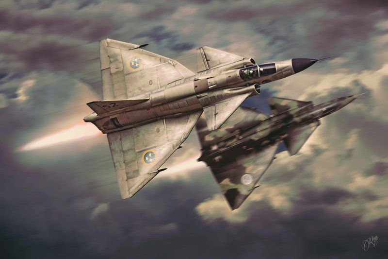 AJ-37 Viggen by Distantstarr on DeviantArt