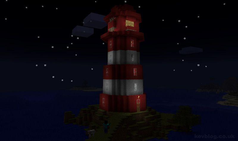 Minecraft Lighthouse Schematic