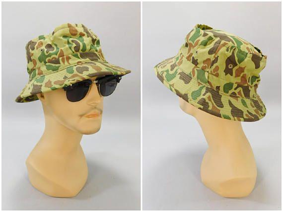 1b64f6679214e 1970s Vintage Camo Cap   Carl Spackler Hat   Caddyshack Hat   Vintage Hunting  Cap