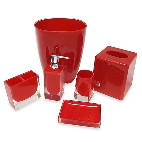 red glass bathroom accessories. Memphis Bath Accessories-The Toothbrush Holder, Lotion Dispenser, Boutique  Tissue Cover And Waste Basket (sold Separately). At Bodyworks Red Glass Bathroom Accessories C