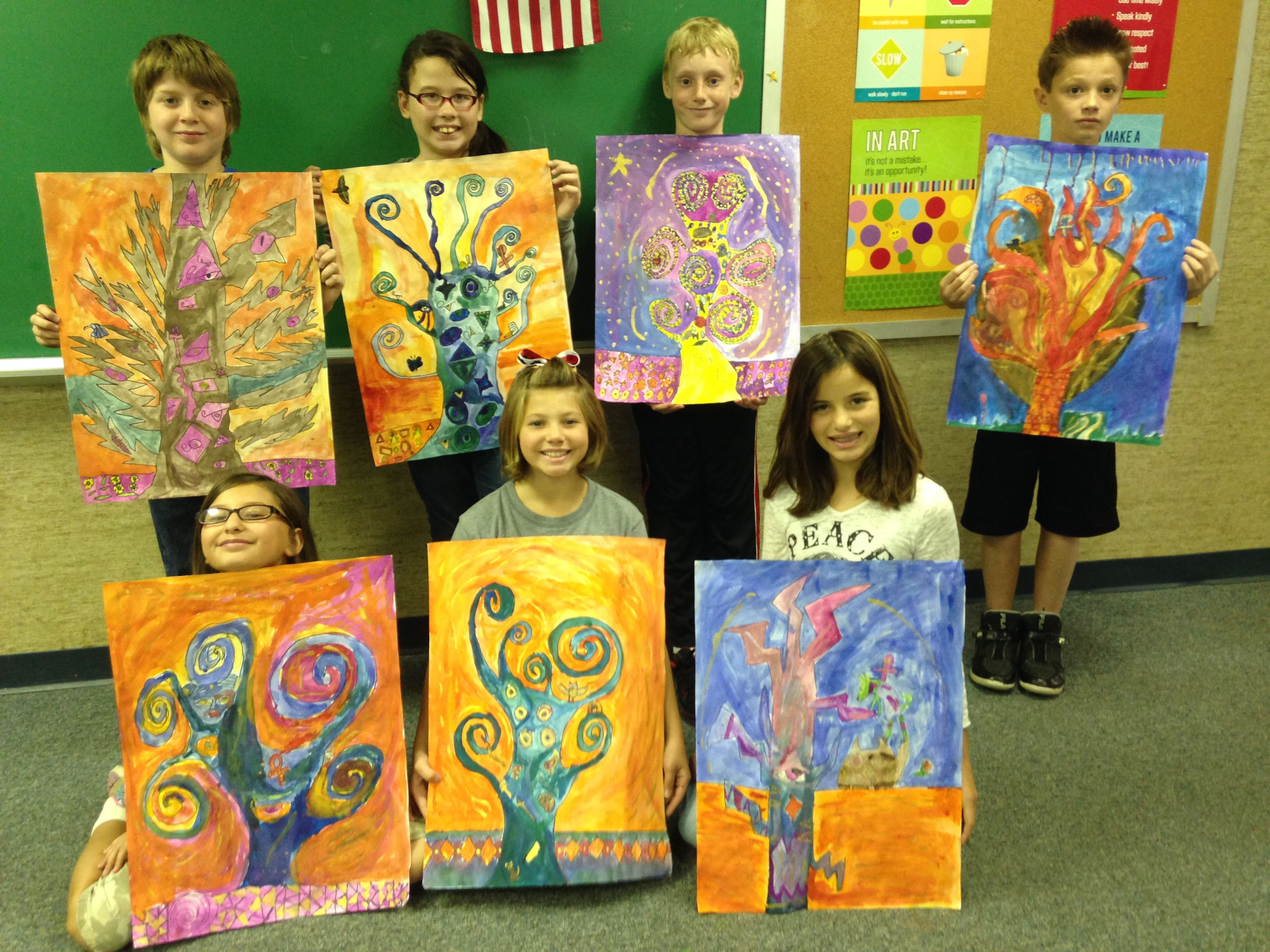 Klimt inspired artwork using egyptian symbolism and gold metallic klimt inspired artwork using egyptian symbolism and gold metallic watercolor students also added their biocorpaavc Image collections