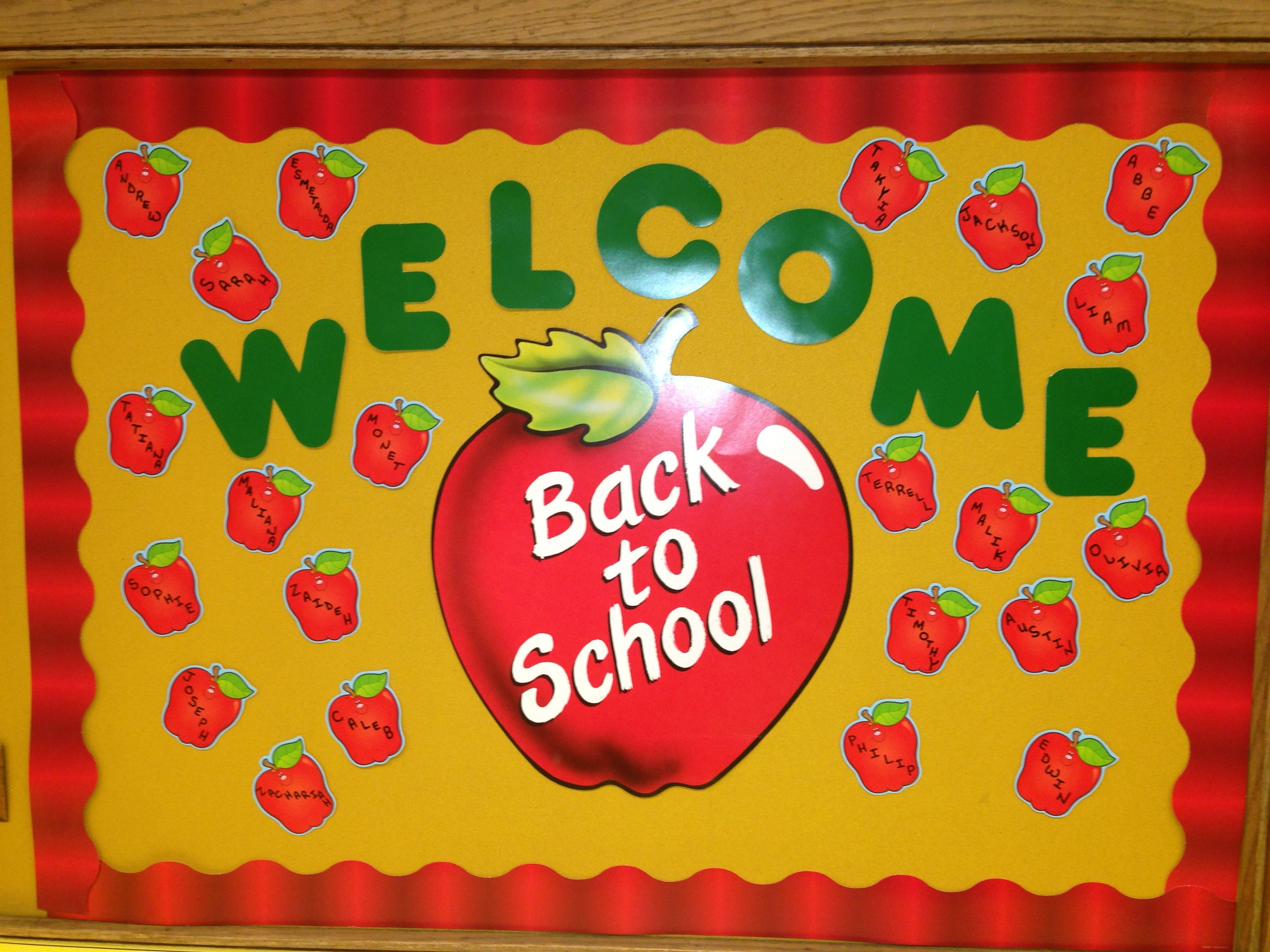 Miles Simple Welcome Back Bulletin Board I Created School