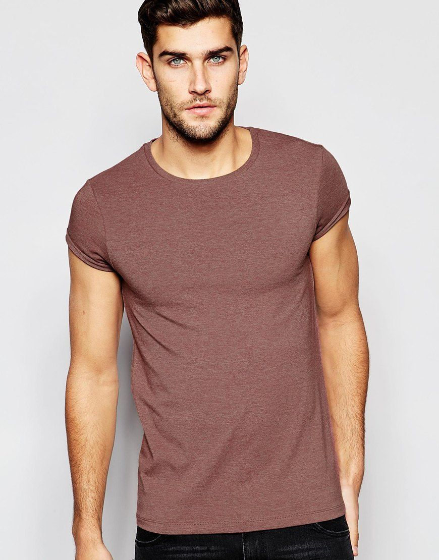 ASOS+Muscle+T-Shirt+With+Roll+Sleeve+In+
