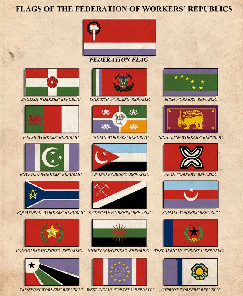 Flags Of The Fwr By Edthomasten Deviantart Com On Deviantart Flags Of The World Alternate History Flag