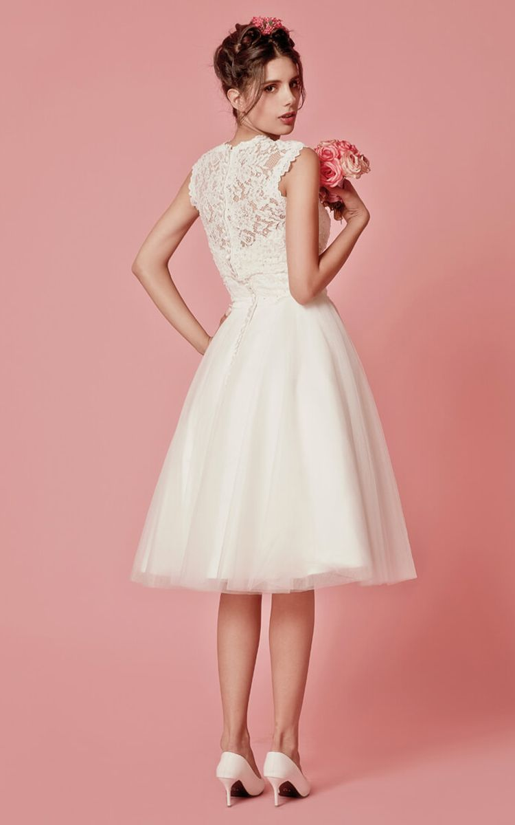Pink dress and jacket for wedding  Cap Sleeved ALine Knee Length Wedding Dress With Jacket  Lace