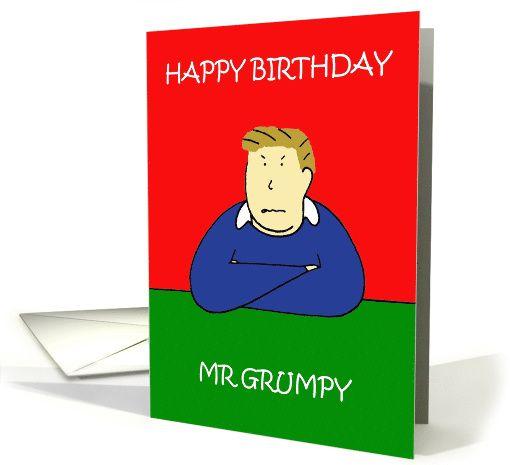 Grumpy Man Birthday Humor Card Funky Birthday Cards Pinterest