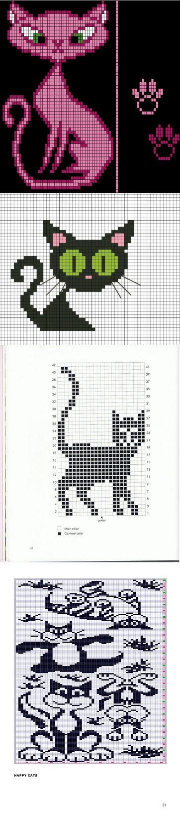Kissat kokoelmaan neulominen.