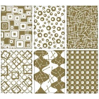 "Stickers & Embellishments Warehouse Sale | Fundamentals Fancies Transparencies 2.5""X3.5"" 6/Pkg-Gold Foiled | Blitsy"