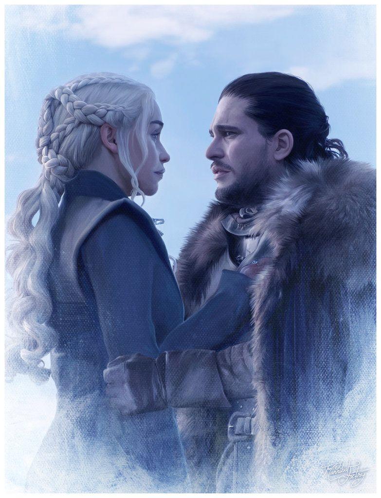 Jon Snow And Daenerys Stormborn Fan Art Jonerys Gameofthrones Gotseason7 Targaryen Stark As Jon Snow And Daenerys Daenerys And Jon A Song Of Ice And Fire