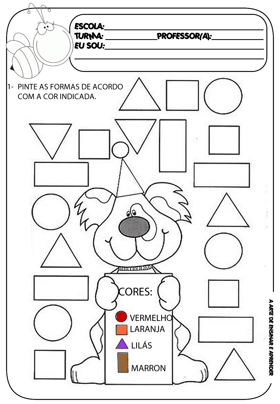 Atividade pronta - Formas geométricas … | Pinteres…