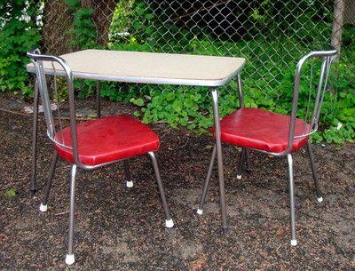 Surprising Vtg 50S Children Table Chairs Set Retro Mid Century Play Interior Design Ideas Inesswwsoteloinfo
