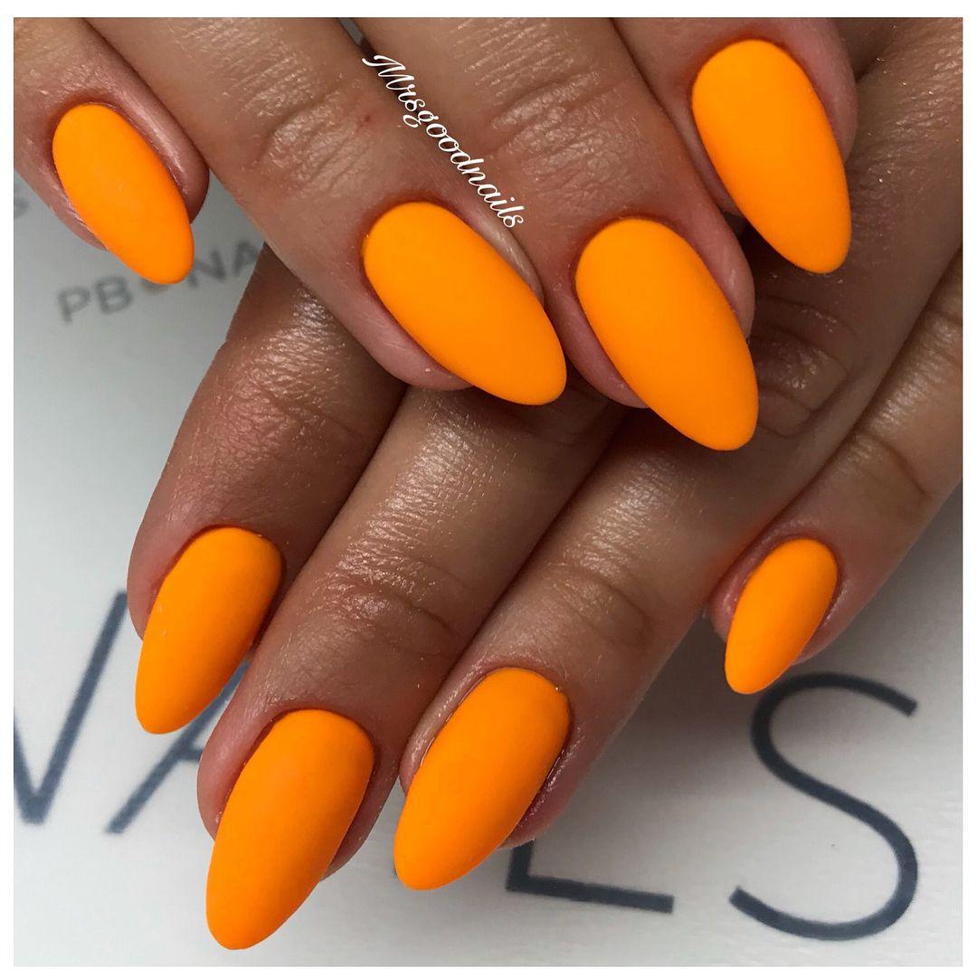 July 31 World Ranger Day Orange Acrylic Nails Orange Nails