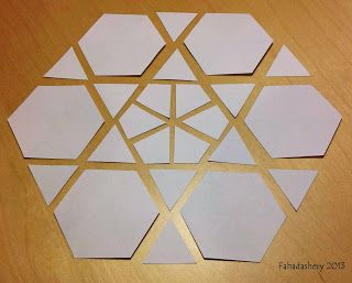 English paper piecing hexagon templates epp patterns for Hexagon quilt template plastic